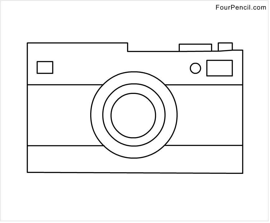 coloring pages to print camera - photo#6