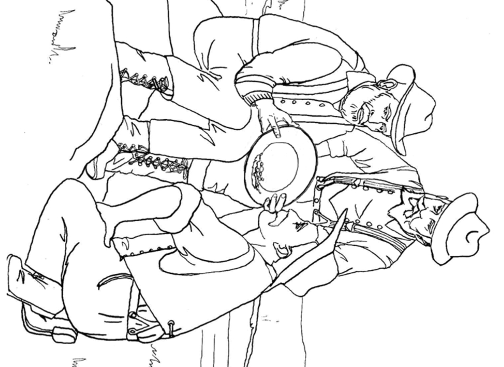 printable coloring page of a gold miner coloring home