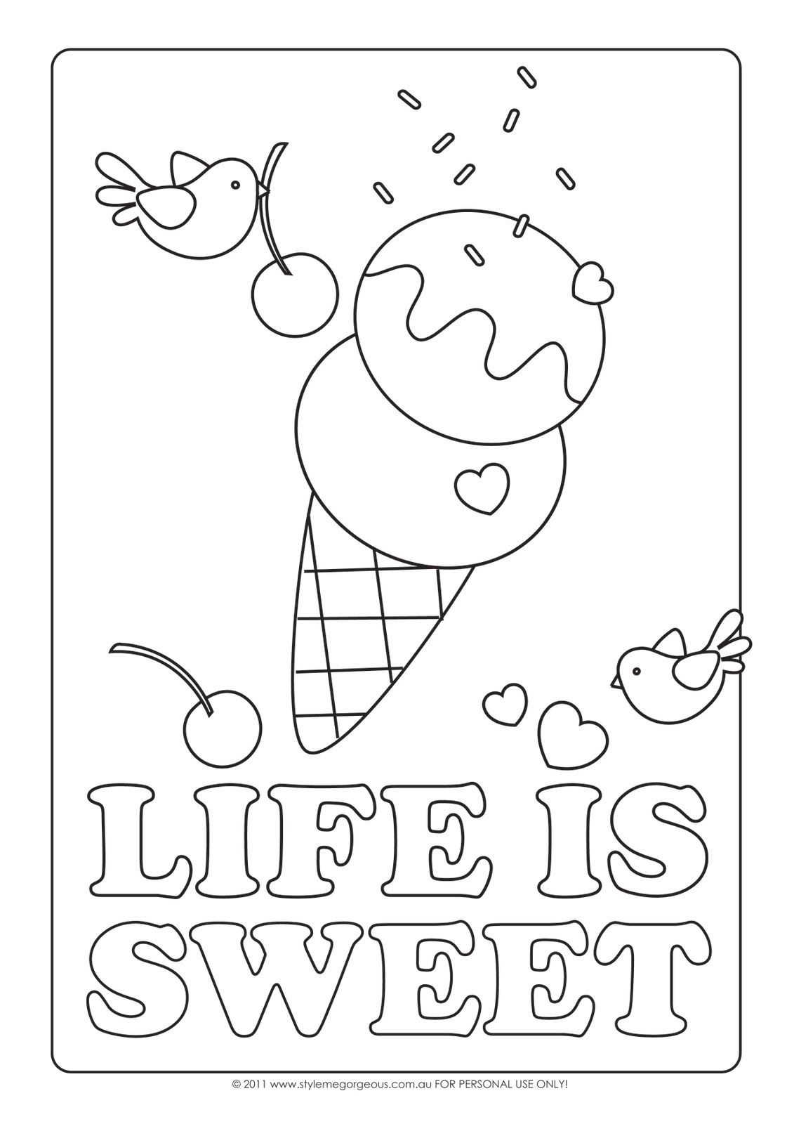 Intrepid image with regard to ice cream coloring pages printable