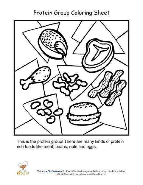 food and nutrition coloring pages - photo#22
