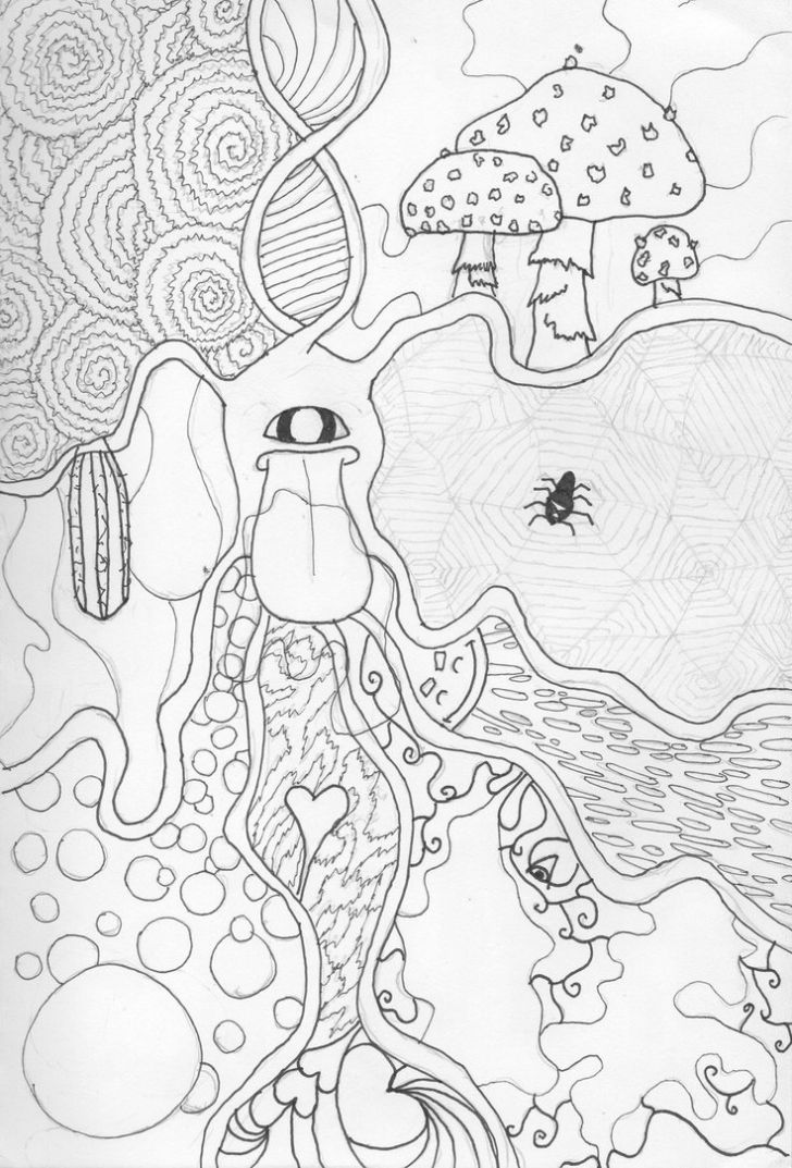 Top 9 Trippy Hippie Coloring Pages Printable – E-ColoringPage