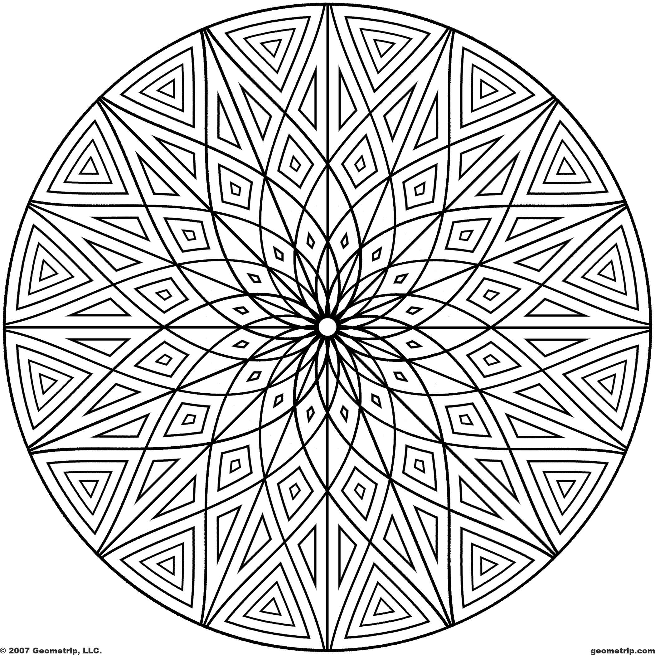Geometric Mandala Coloring Pages - Coloring Home
