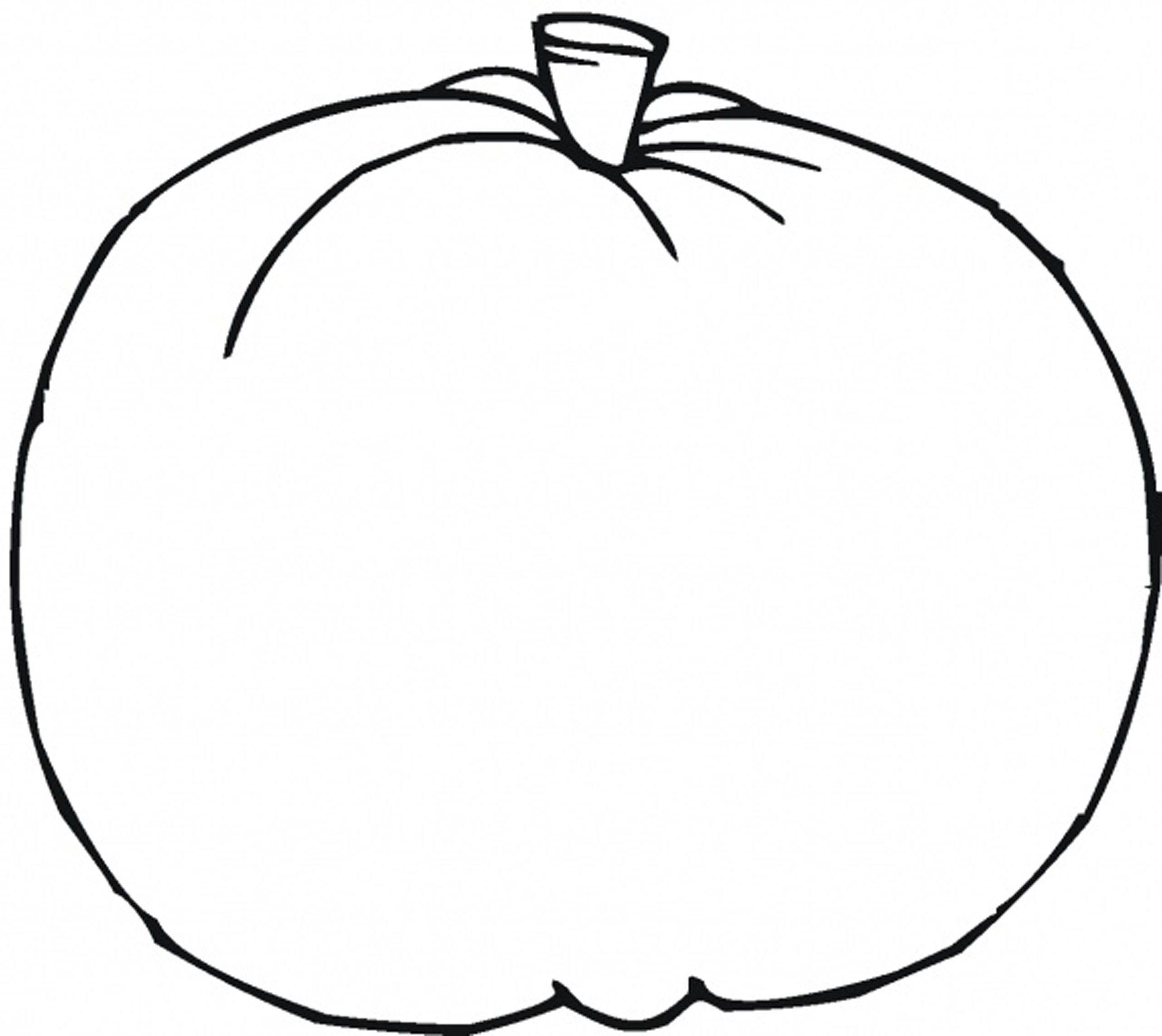 Blank Pumpkin Template - Coloring Home