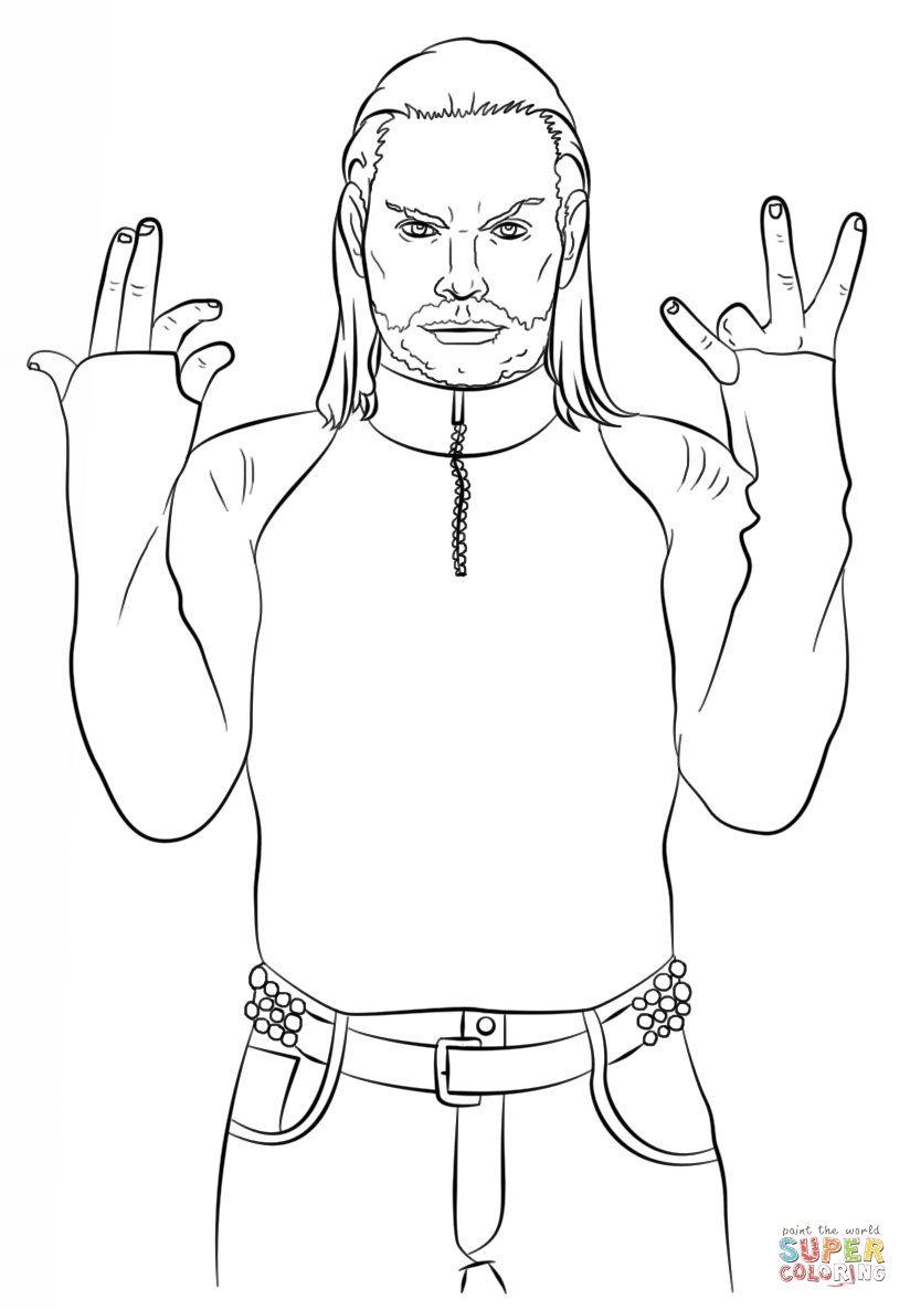 WWE Jeff Hardy coloring page