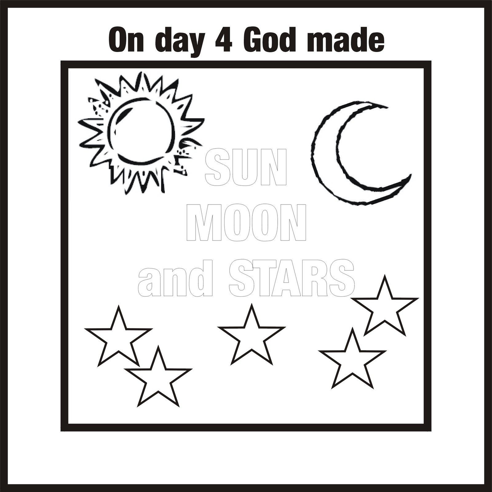 creation coloring pages day 3 - photo#21