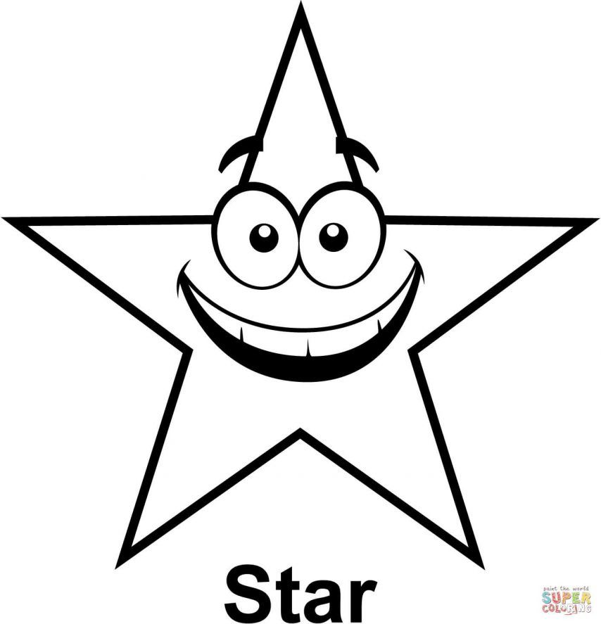 shooting star coloring pages for kids | Star Outline Printable - Coloring Home