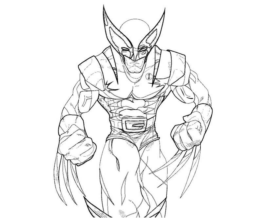Coloring pages wolverine x men - Printable Wolverine Coloring Pages Coloring Me