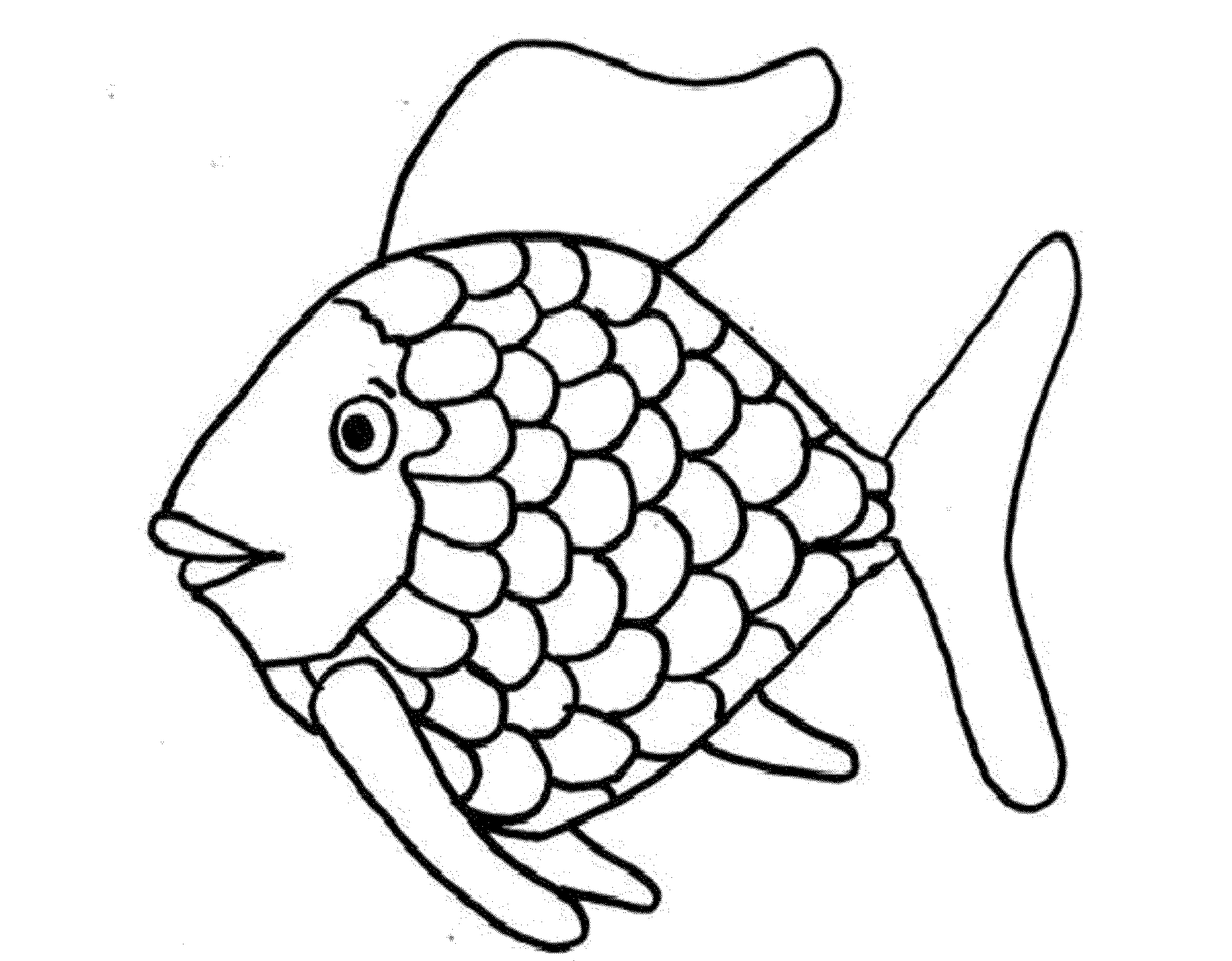 rainbow fish coloring pages - photo#10