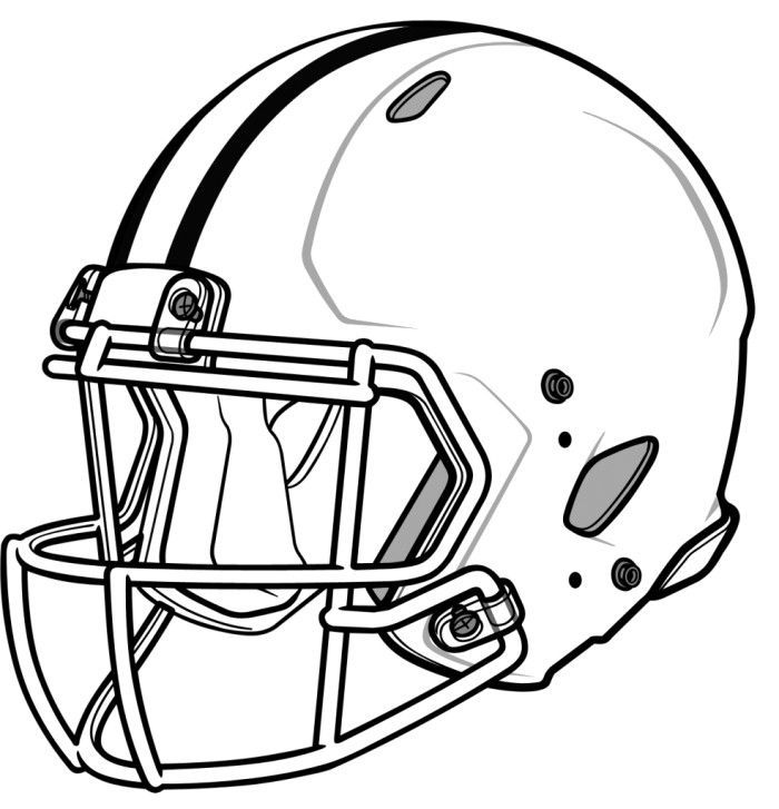 Football Helmet Trendy Coloring Pages - Football Coloring Pages ...