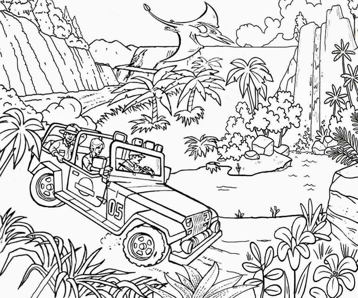 coloring pages printable color kids kindergarten colorinenet - Lego Jurassic Park Coloring Pages