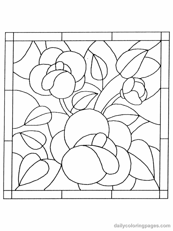 Free Printable Stained Glass Window