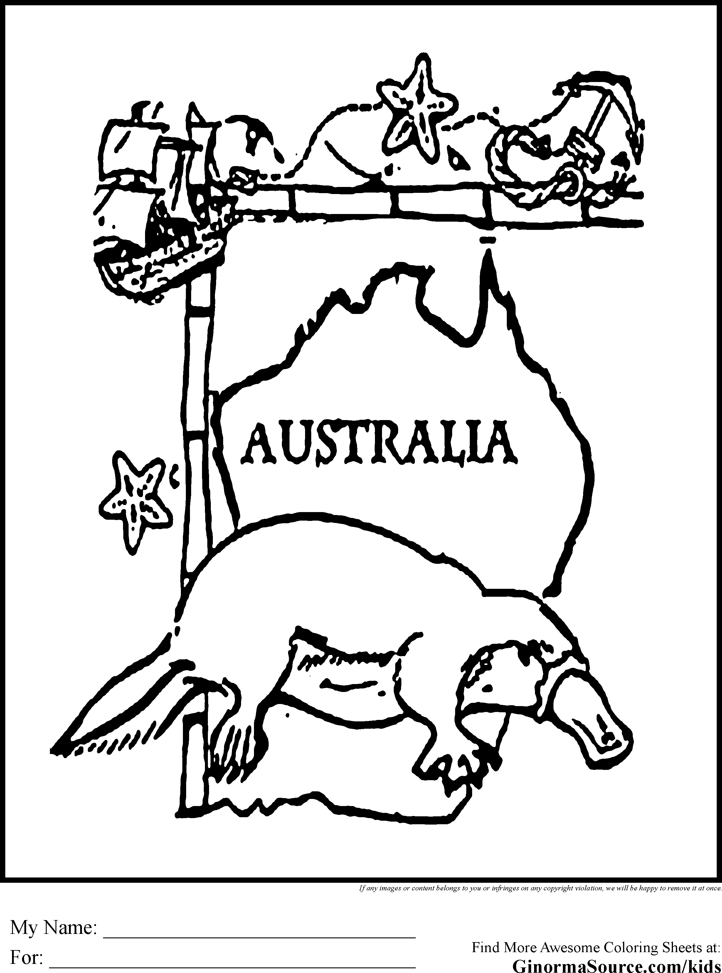 coloring pages australian animals - photo#33