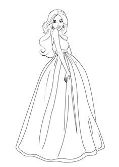Coloring Pages For Barbie - Coloring Page