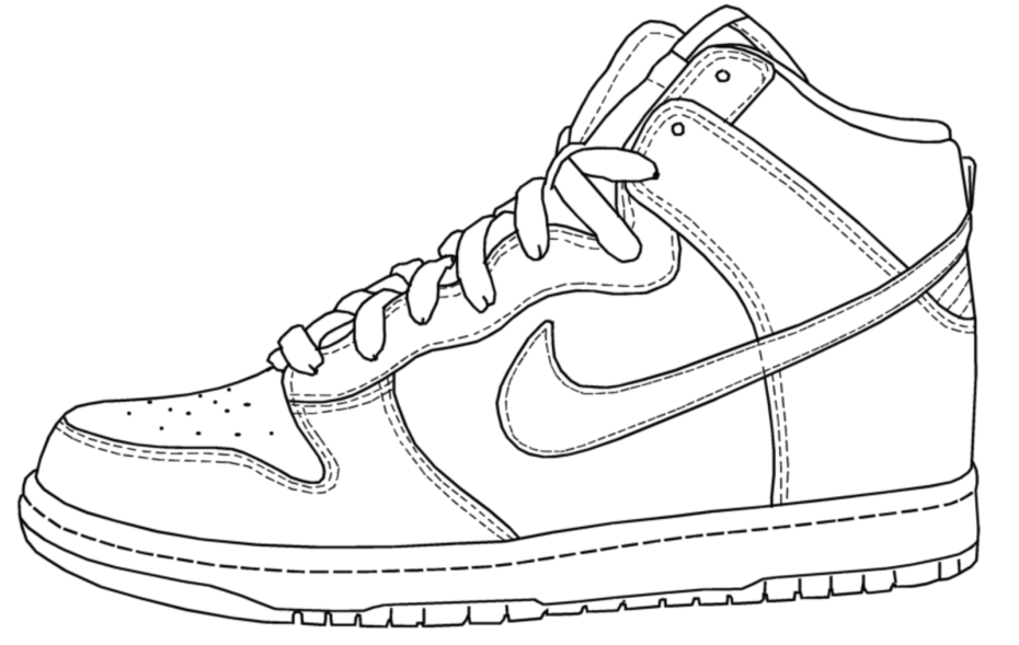 Coloring Pages For Shoes In Jordans - Coloring
