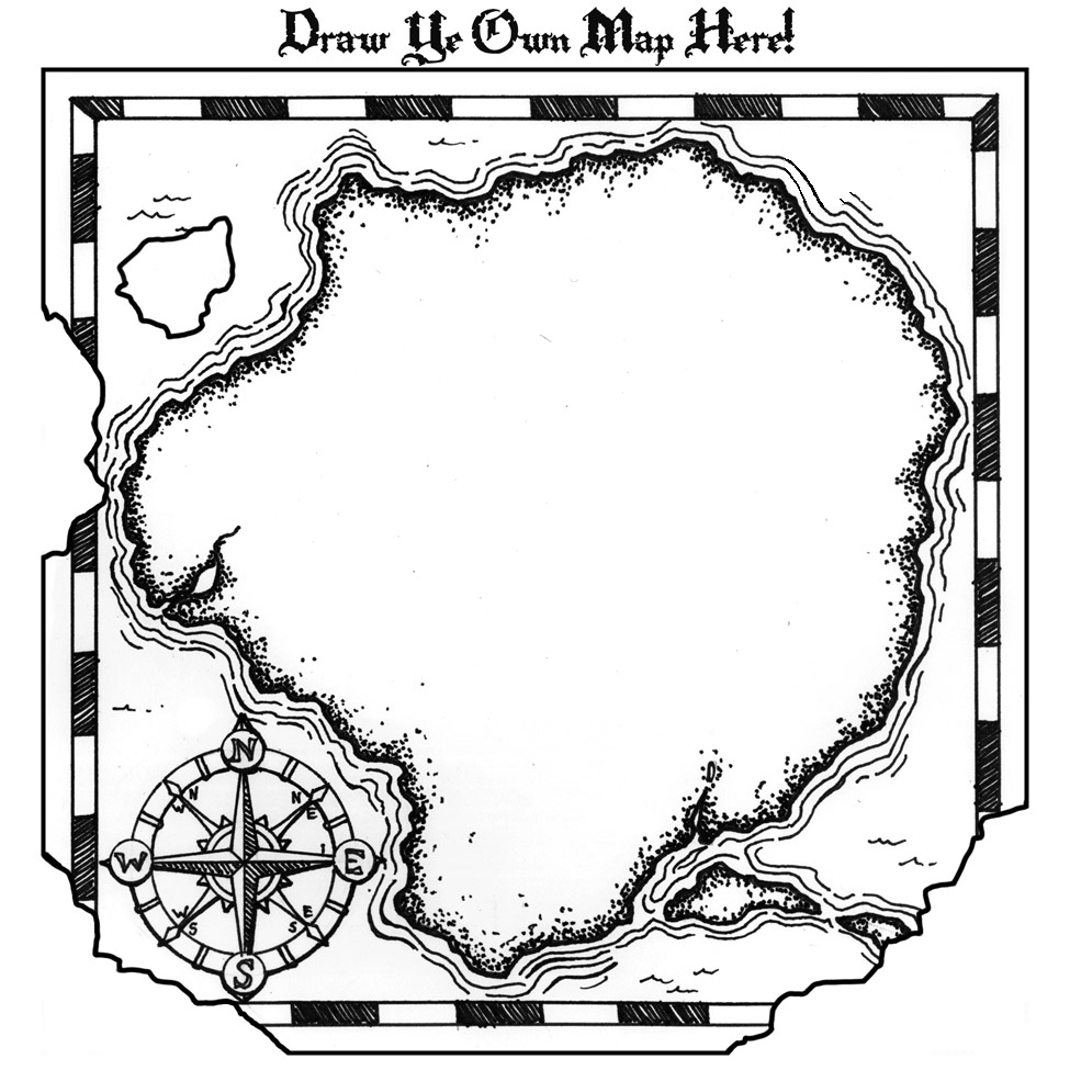 - Printable Treasure Map Coloring Page - Coloring Pages For Kids And