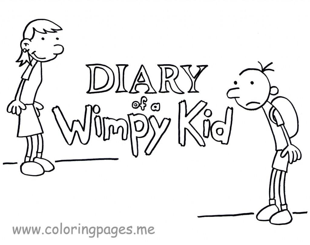 Printable Pictures Of Diary Of A Wimpy Kid Coloring Pages For