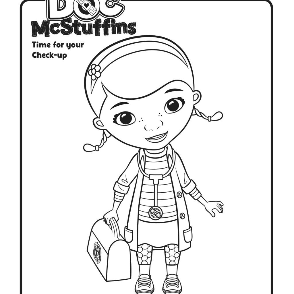 free dr mcstuffin coloring pages - photo#3