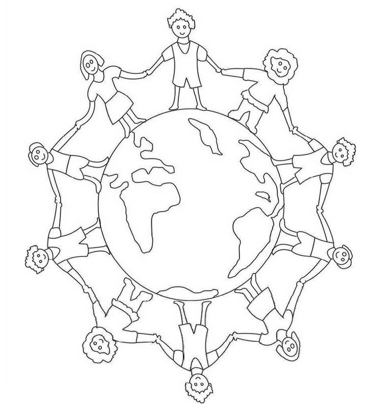 Children Around The World Coloring Pages - Coloring Home