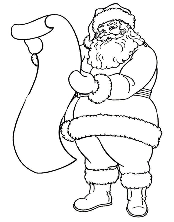 Christmas santa claus drawings