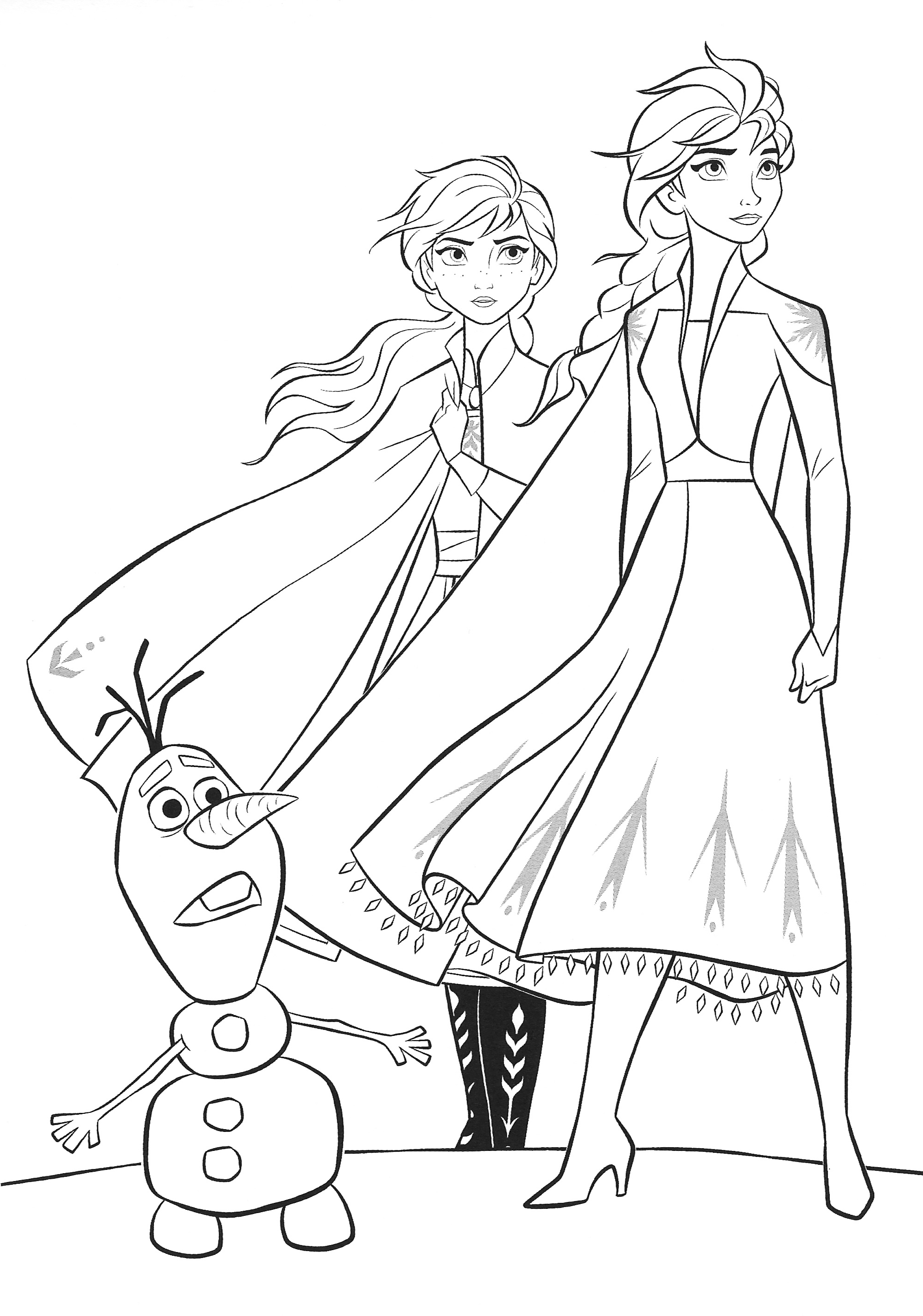 Anna Frozen Coloring Pages - Coloring Home