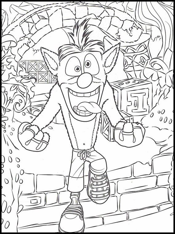 Crash Bandicoot 22 Printable coloring pages for kids | Coloring pages, Crash  bandicoot, Lego coloring pages