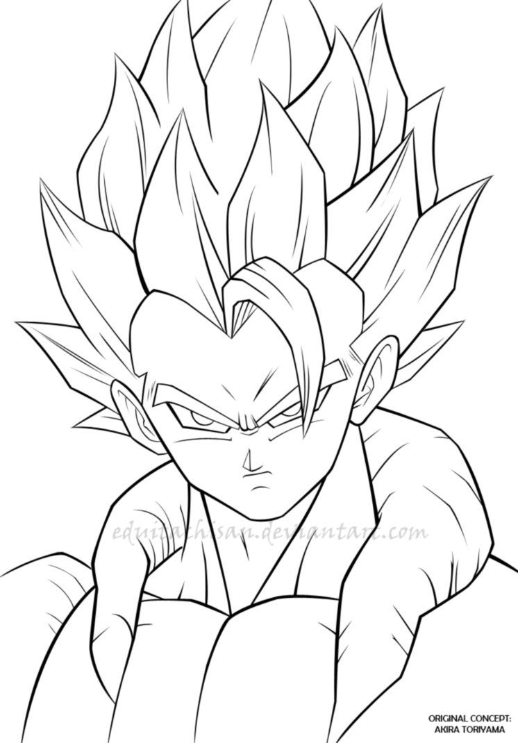 13 pics of dbz gogeta coloring pages dragon ball z gogeta