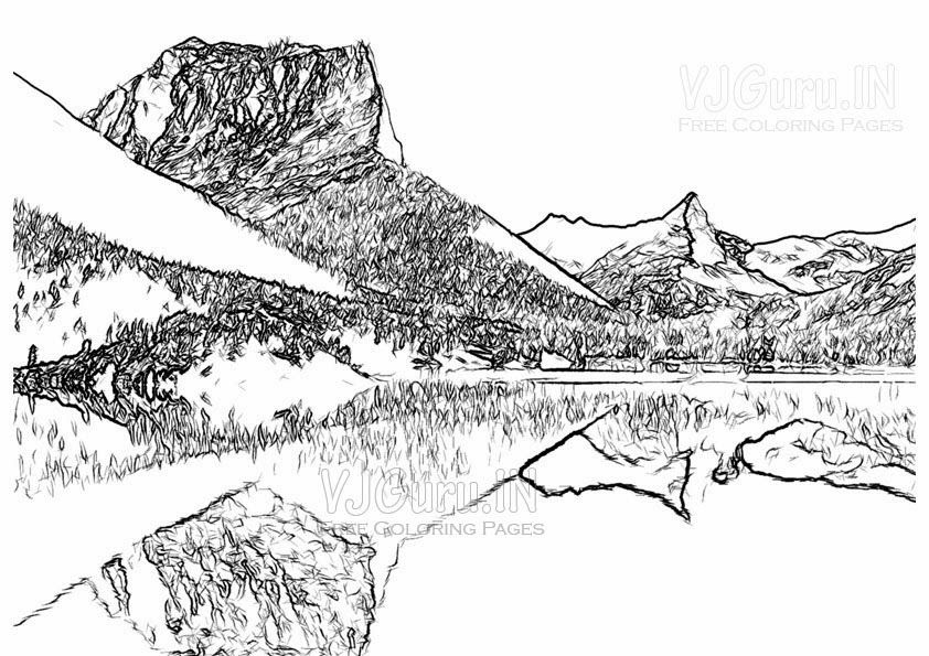 Coloring Pages Landscape