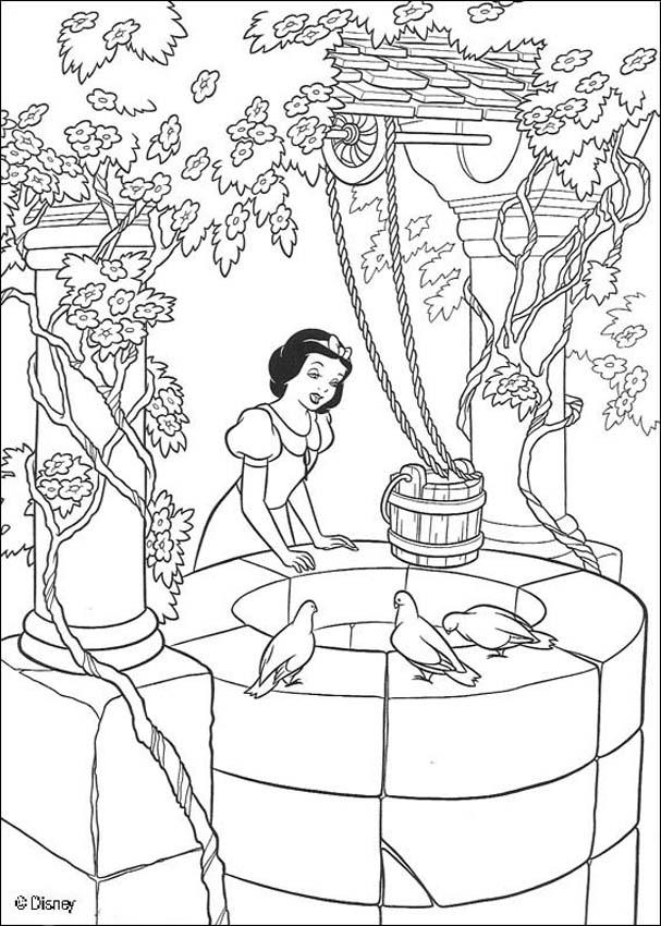 Snow White and the seven dwarfs coloring pages - Poisoned apple ...