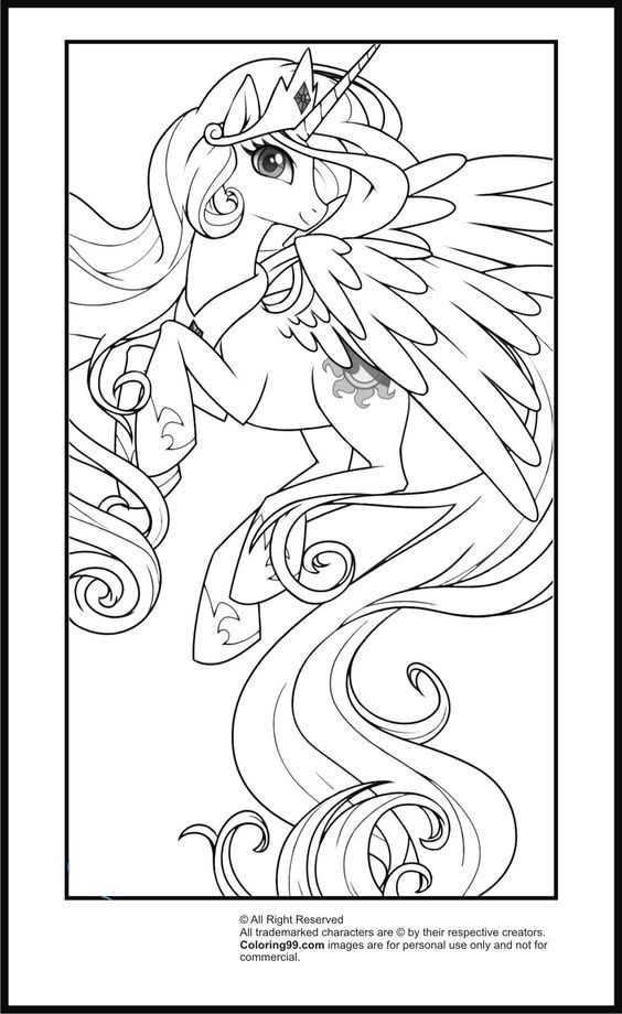Flying Princess Celestia | My Little Pony Coloring Pages ...