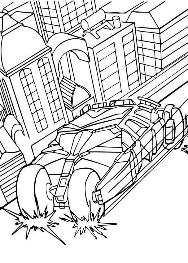 Batman Car Coloring Pages Print - Coloring Home
