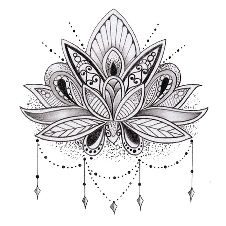 lotus flower mandala coloring pages google search tattoos - Lotus Flower Coloring Pages
