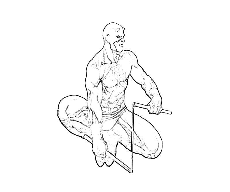 daredevil coloring pages - photo#14