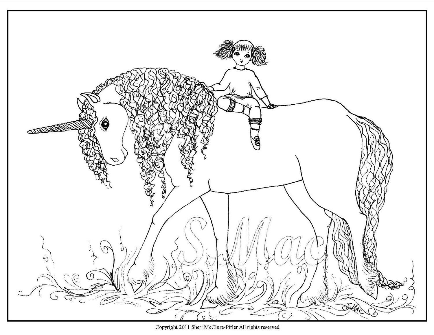 Printable Unicorn Coloring Page AZ Coloring Pages