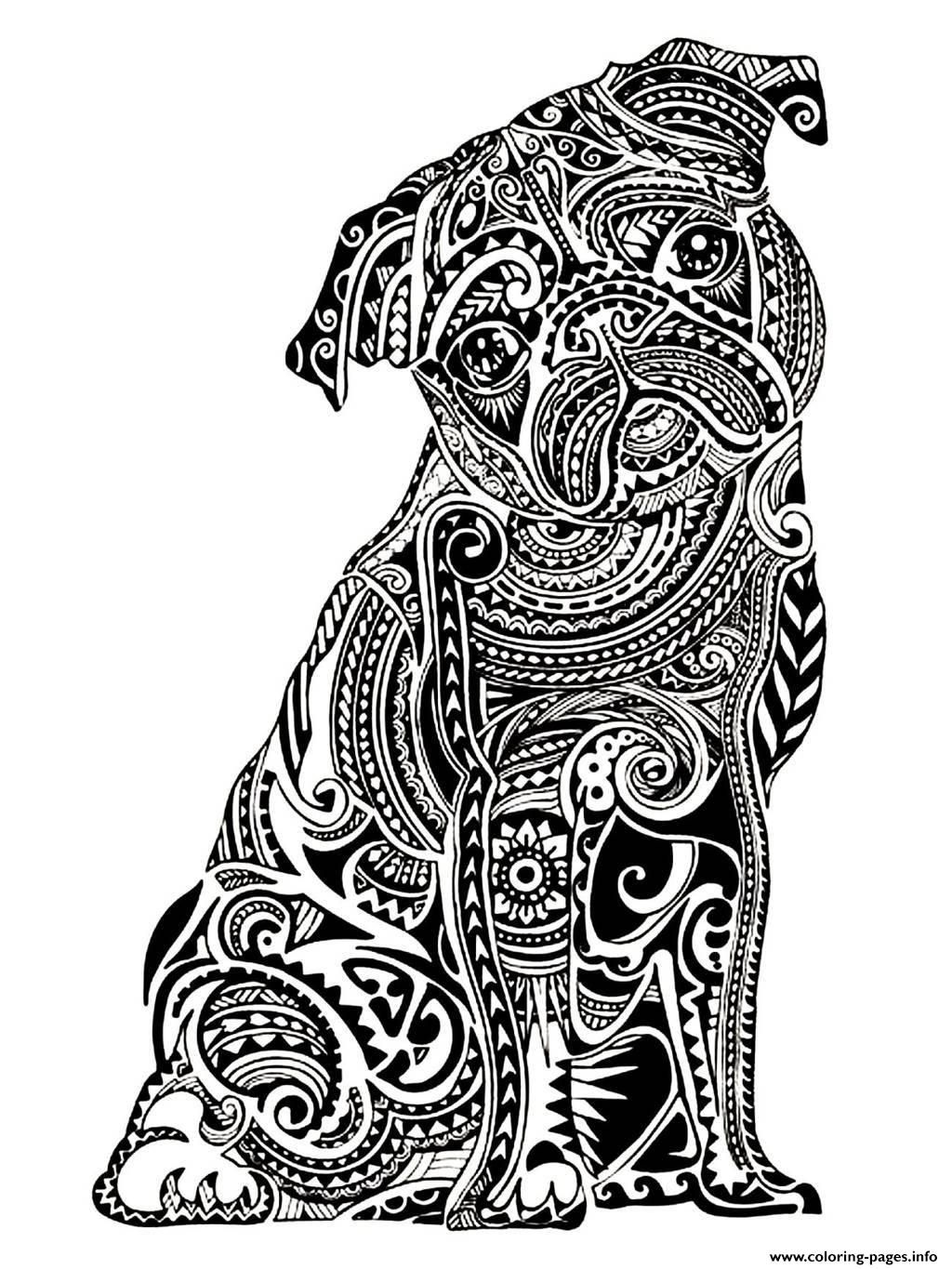 Print adult difficult little buldog Coloring pages