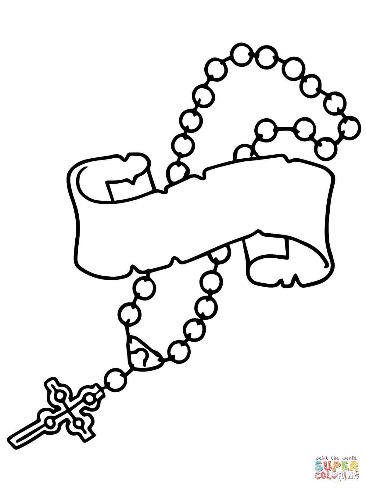 Rosary Beads Coloring Page Free Printable Pages