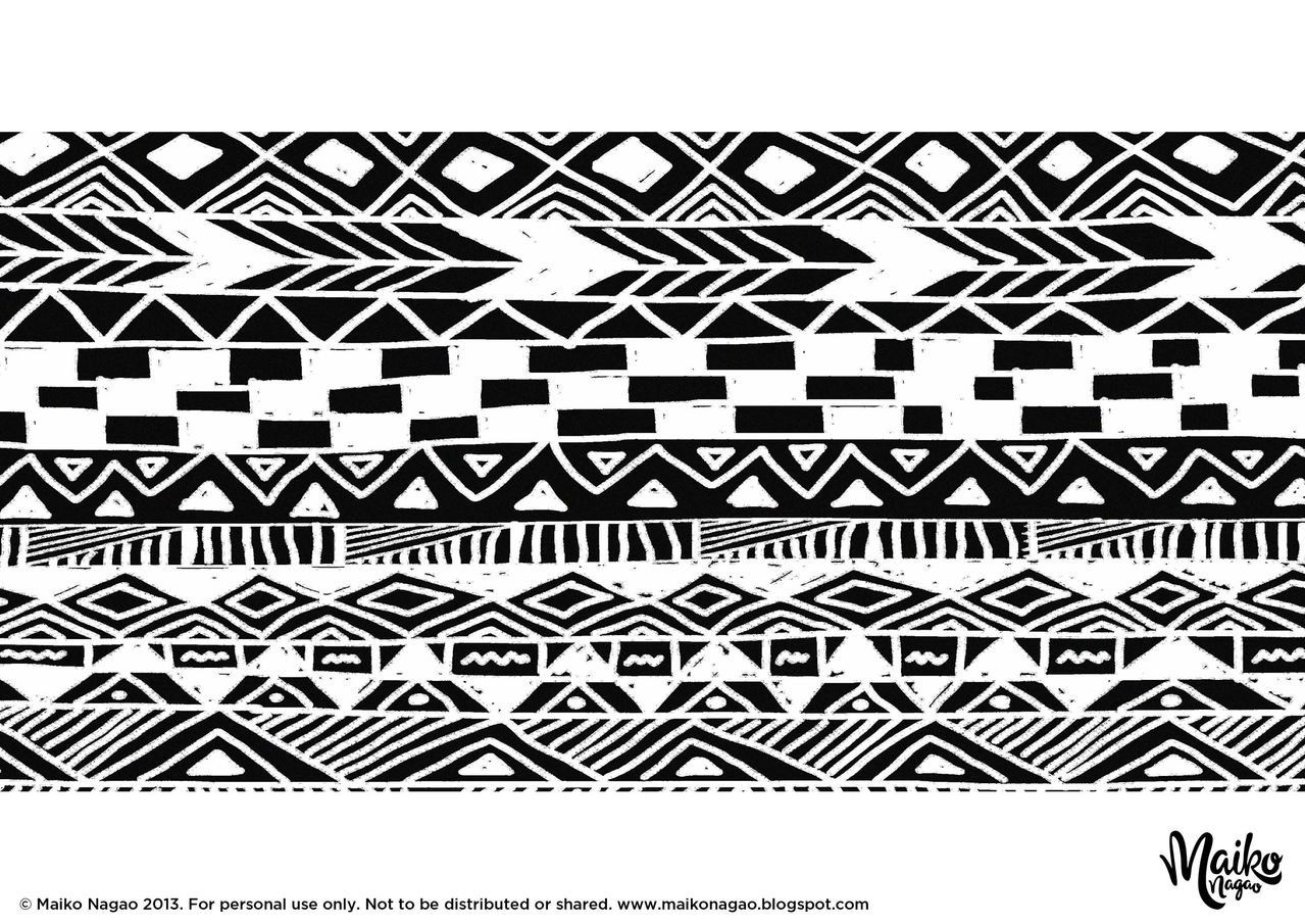 Tribal coloring pages coloring home for Tribal pattern coloring pages