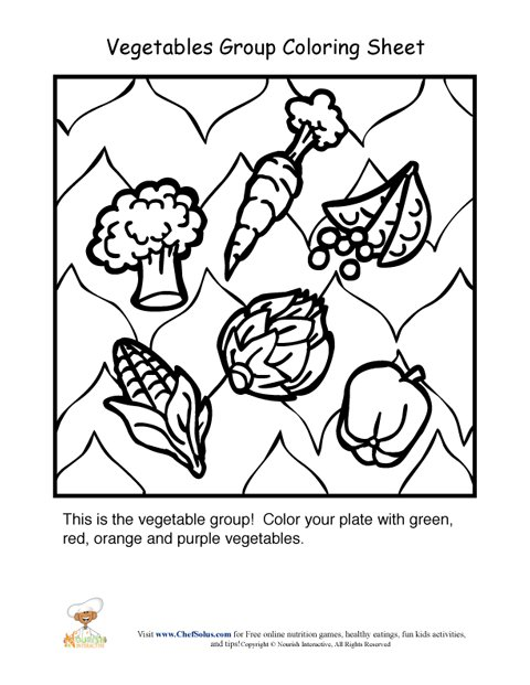Vegetables food group coloring sheetnourishinteractive.com