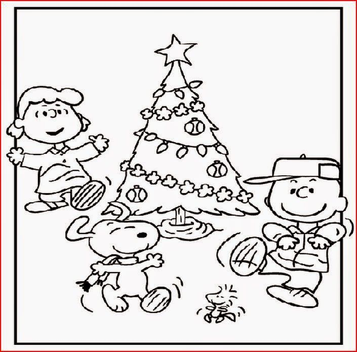 charlie brown chirstmas coloring pages - photo#17