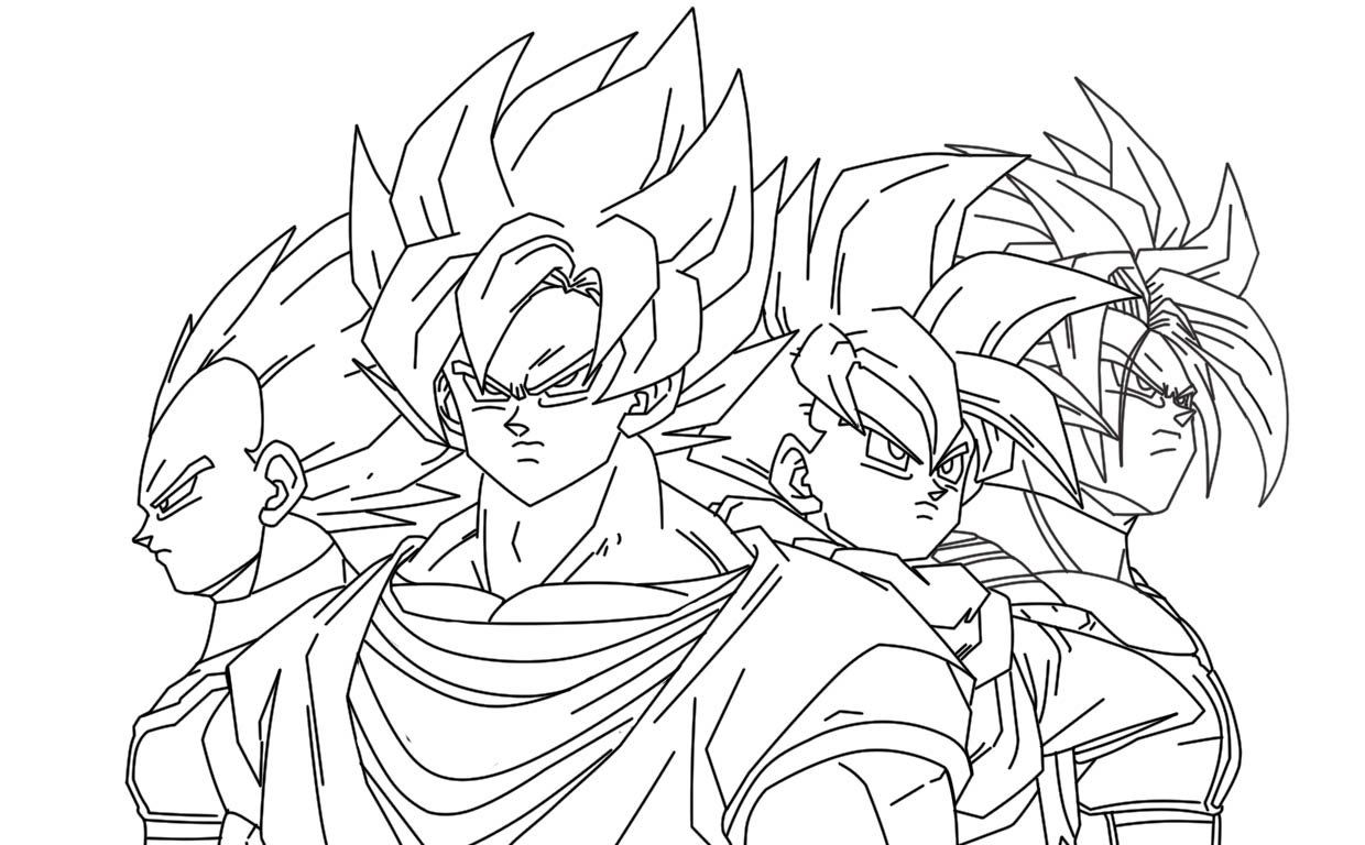 dbz vegeta coloring pages contegri com