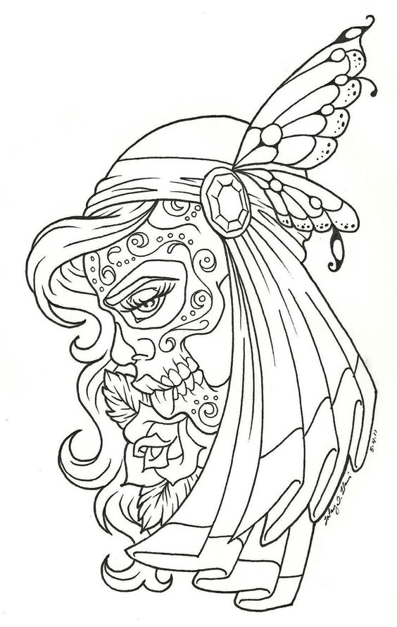 day of the dead children day of the dead coloring page - Day Of The Dead Coloring Book