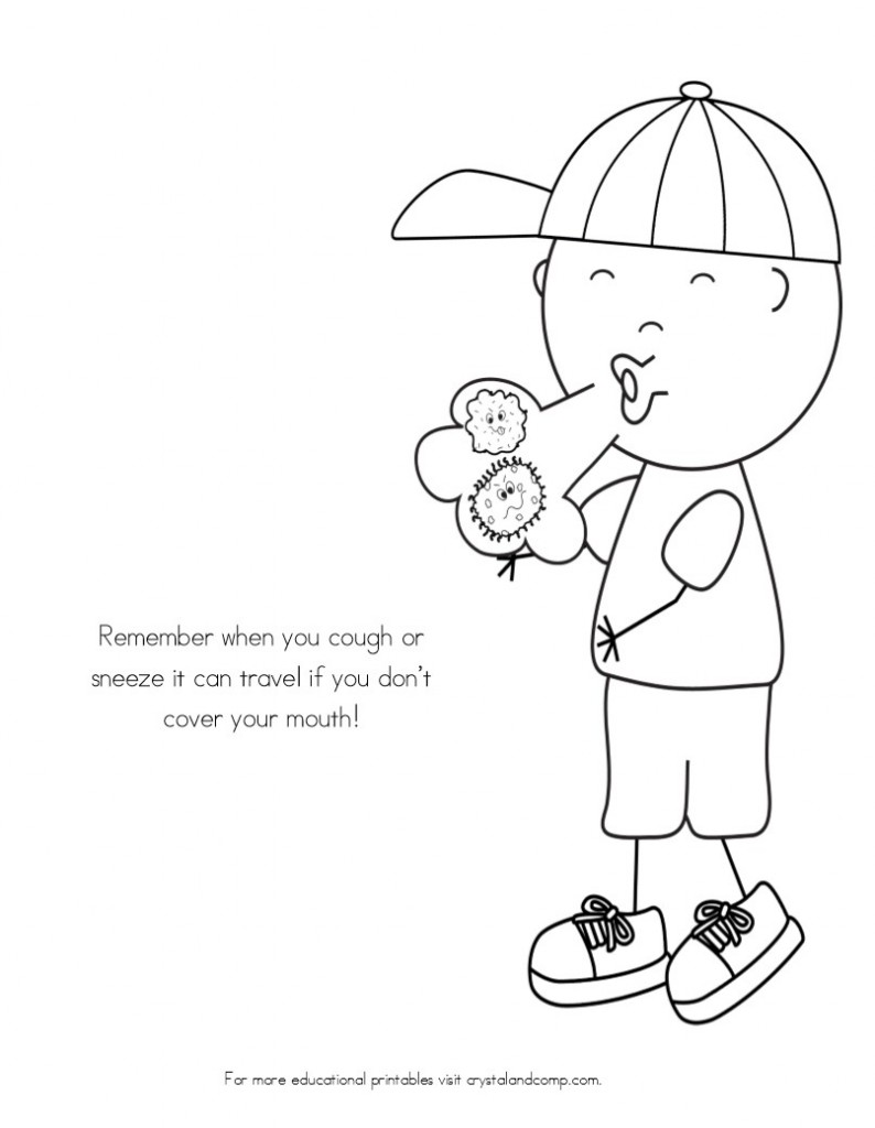 Germ Coloring Page - Coloring Home