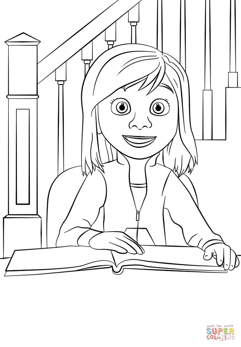 Inside out coloring pages riley - Riley Inside Out Coloring Pages