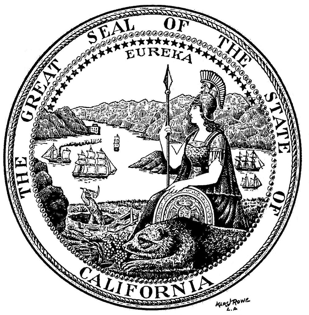 california state seal coloring page coloring home