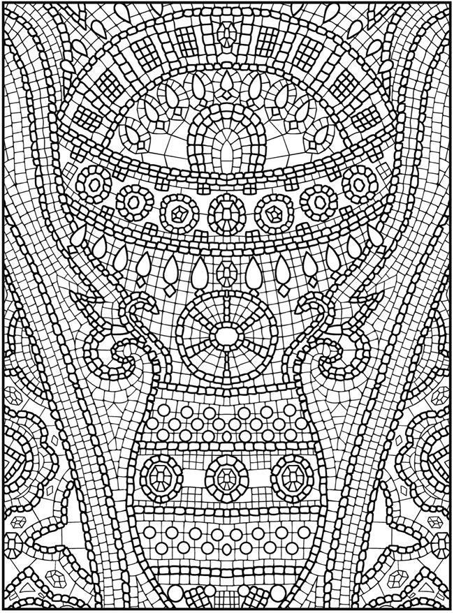 printable mosaic coloring pages adult coloring pages flowers