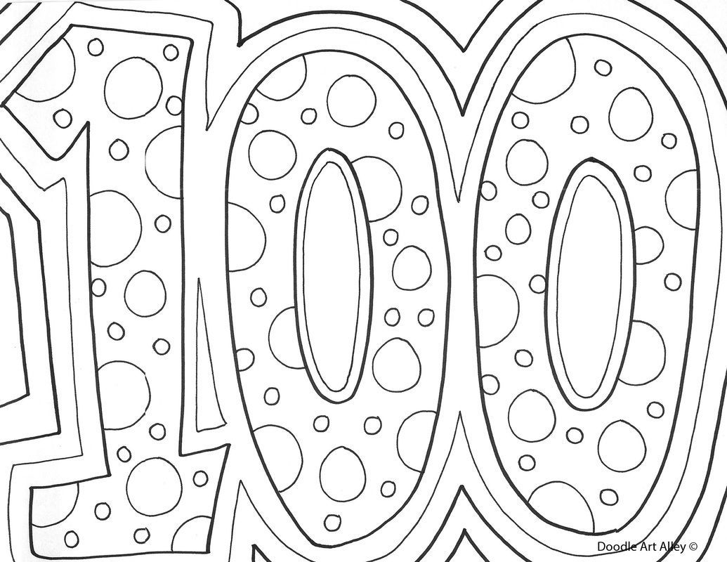 100 Day Printable Coloring Pages - Coloring Pages For All Ages