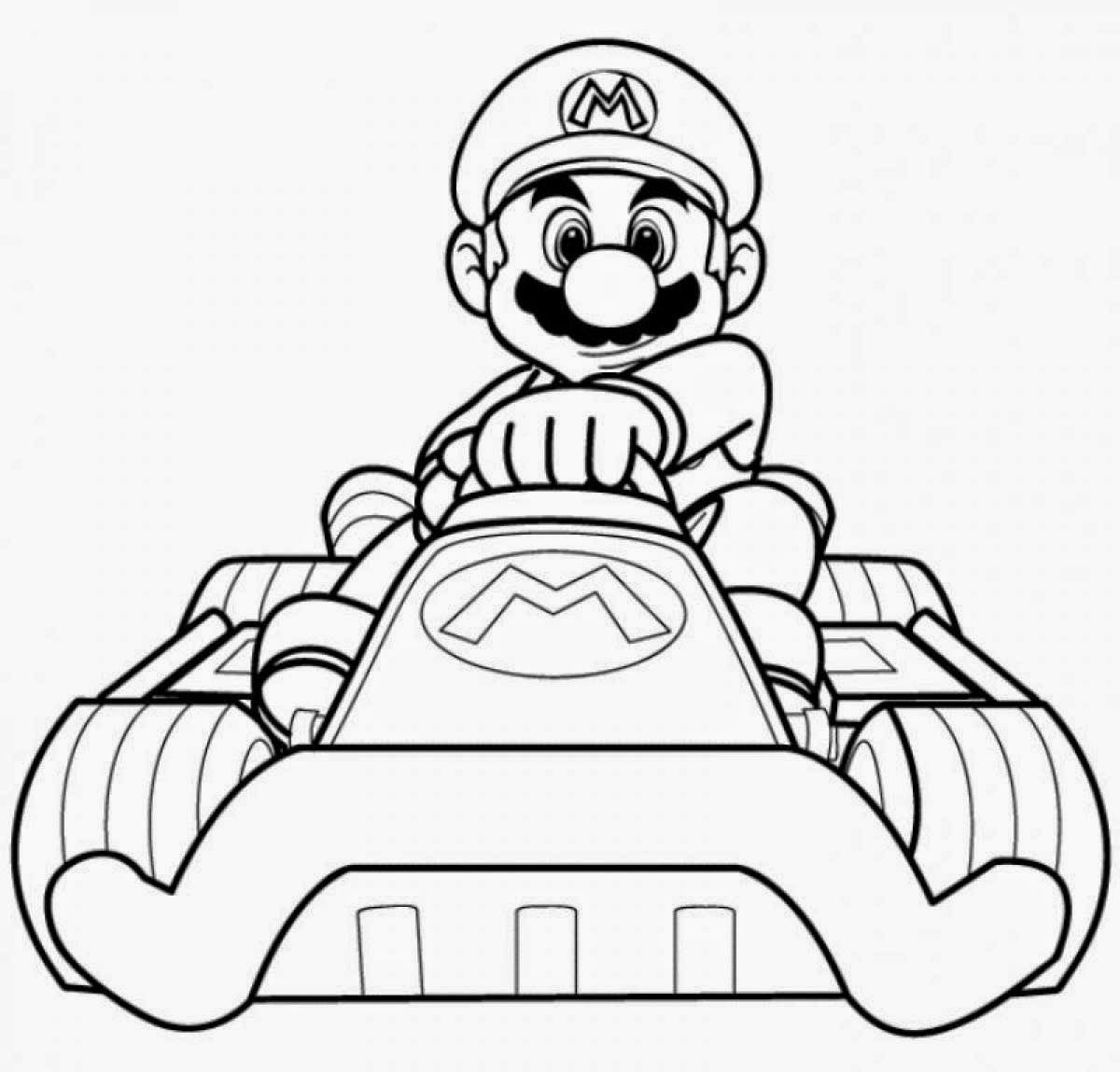 printing coloring pages mario kart 8