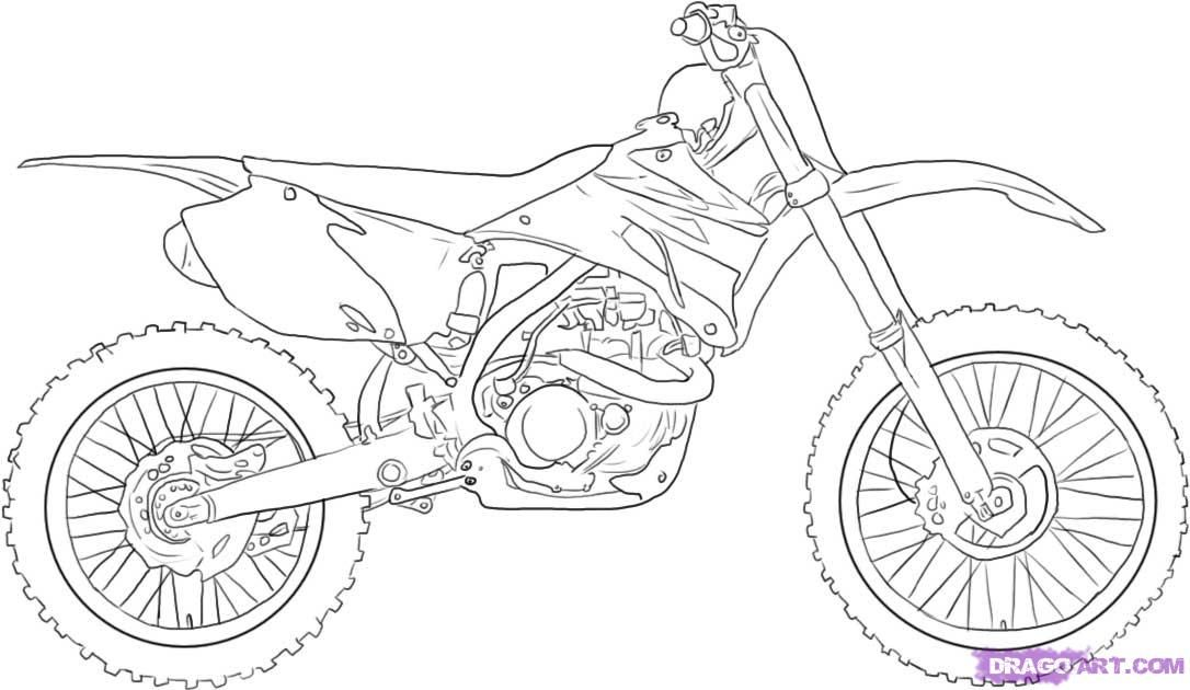 Motocross Bikes Coloring Pages Coloring Home