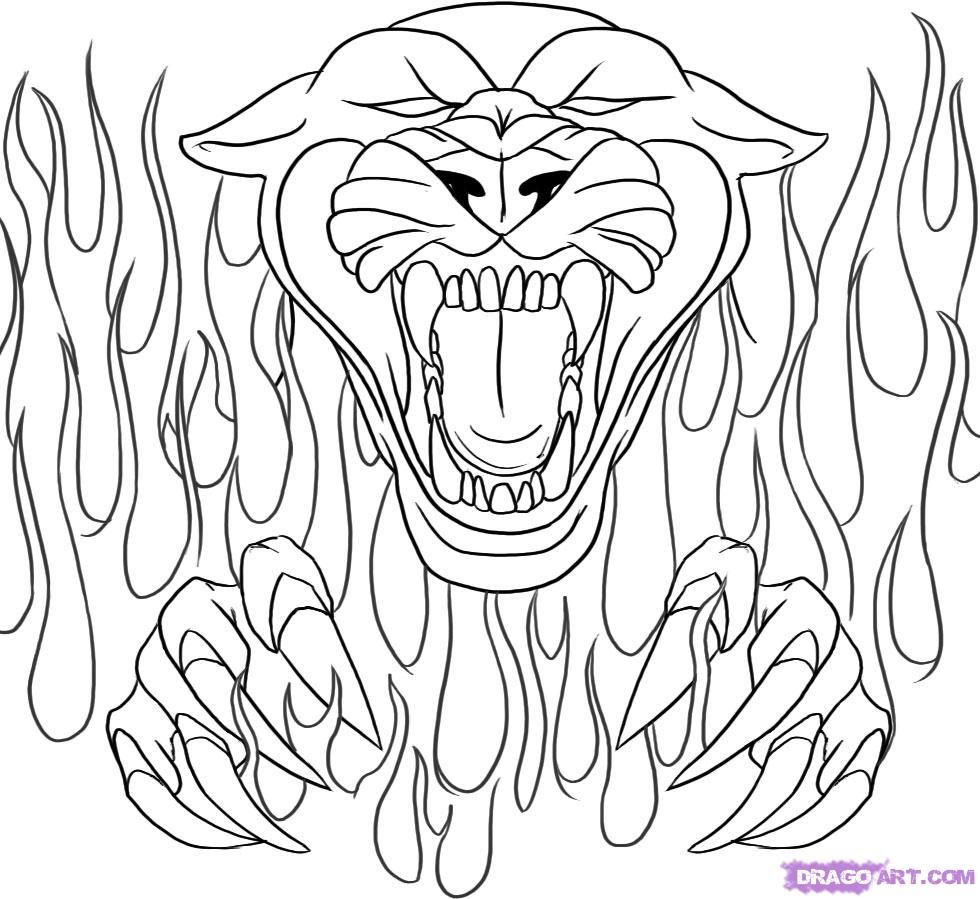 Black Panther Coloring Page - Coloring Page - Coloring Home