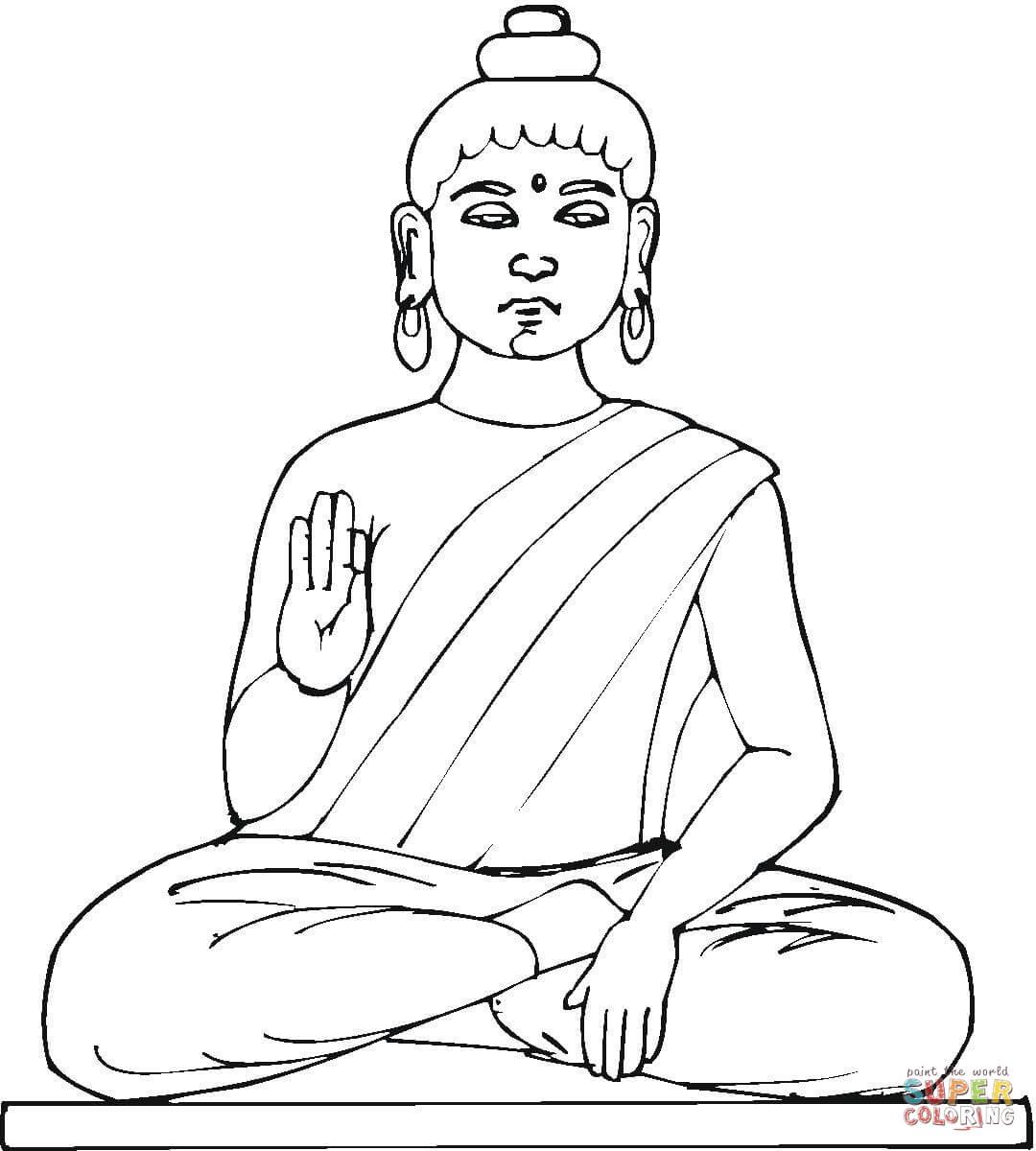 Будда в рисунках карандашом