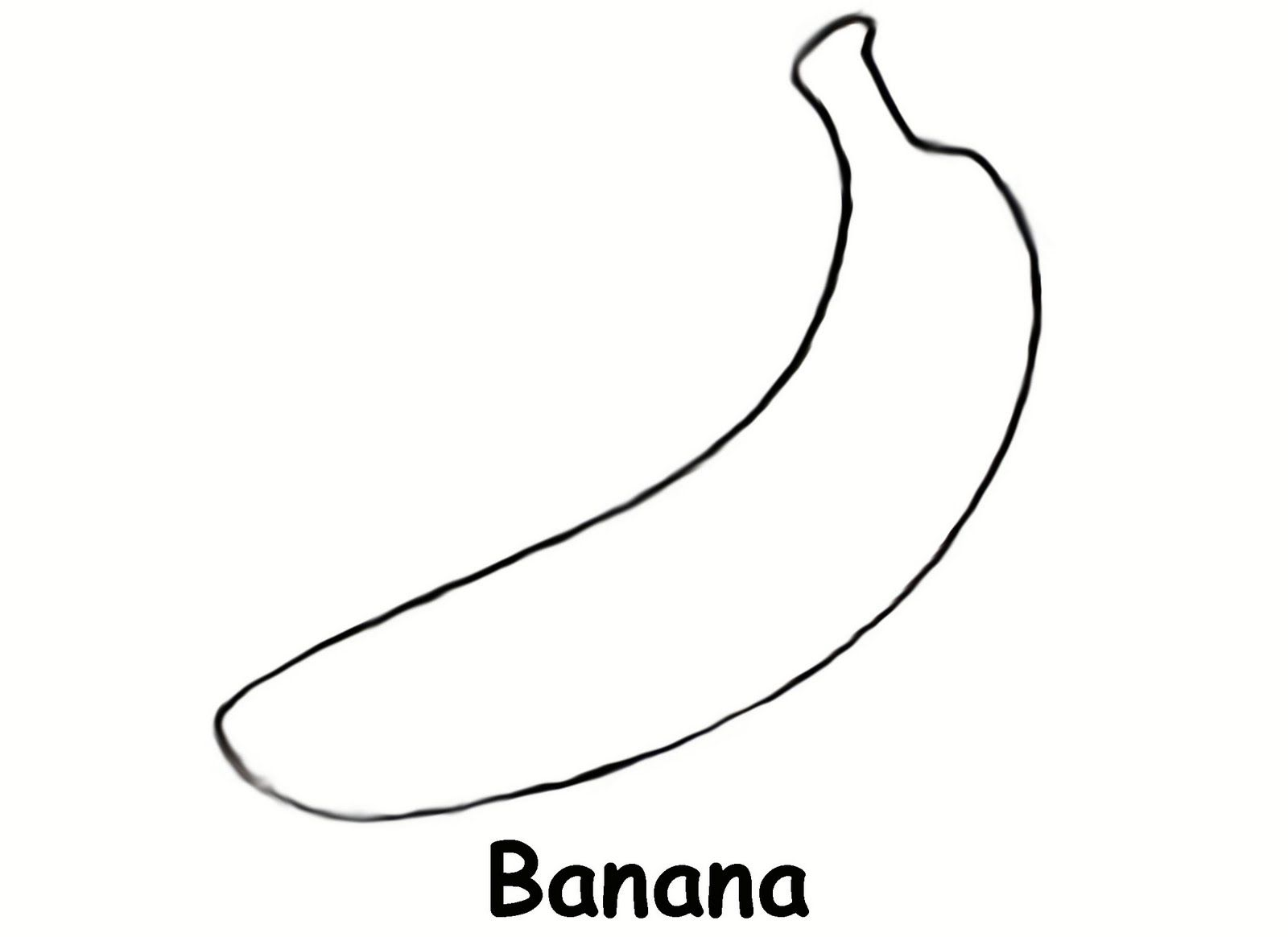 Banana coloring images reverse search for Banana color page